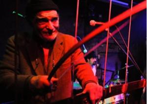 Bob Rutman Steel Cello Concert Vol.1 Bob Rutman, Kristof Hahn, Nico Lippolis, DJ Tina Kanume, Yuko Matsuyama ©Henryk Weiffenbach